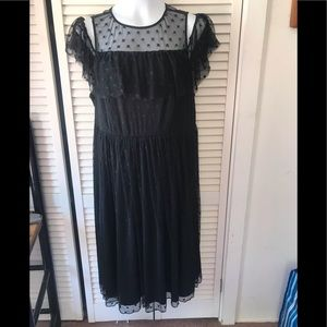 Torrid Black Lace Short Sleeve Dress NWOT